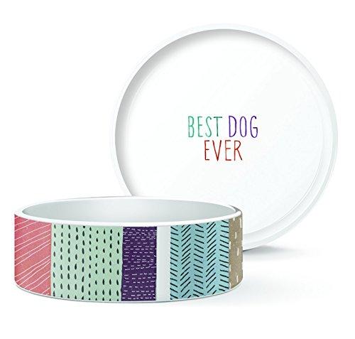 FRINGE STUDIO Small Pencil Stripes Pet Bowl, 5 by ()