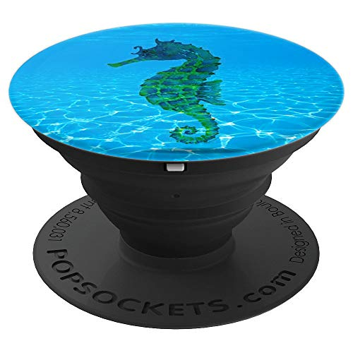 Cute Seahorse Unicorn Sea Horse Costume Gift Blue - PopSockets Grip and Stand for Phones and -