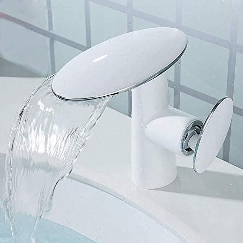 バス水栓洗面ミキサー蛇口の浴室の蛇口洗面器ミキサーシングル洗面台の蛇口の浴室用グリルホワイトカラーレバー