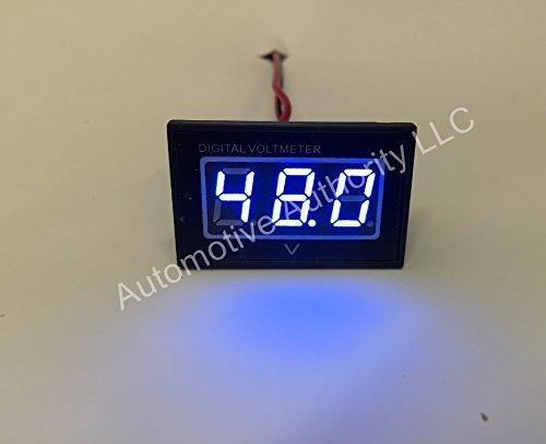 Automotive Authority LLC® 48V Golf Cart Digital Volt Meter Battery Gauge Club Car EZGO Yamaha 48 Volt - BLUE