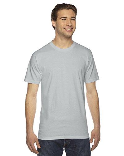 Unisex Fine Jersey - American Apparel 2001W Unisex Fine Jersey Short-Sleeve T-Shirt New Silver XS