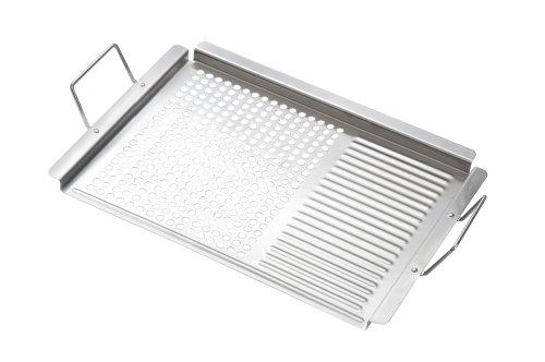 grillplatte rechteckig mit griffen 530x325x20mm grill grillzubeh r shop. Black Bedroom Furniture Sets. Home Design Ideas