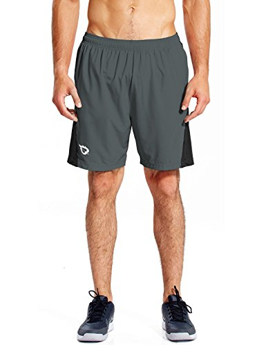 "Baleaf Men's 7"" Quick Dry Workout Running Shorts Mesh Liner"