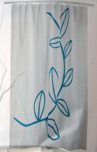 Ikea Dramselva Turquoise Leaves Shower Curtain