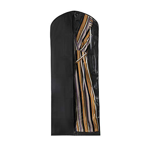 Garment Suit Bag Breathable 60 inch for Suits Dress Coats for Easy Storage or Travel with a Transparent Clear Panel for Easy Viewing