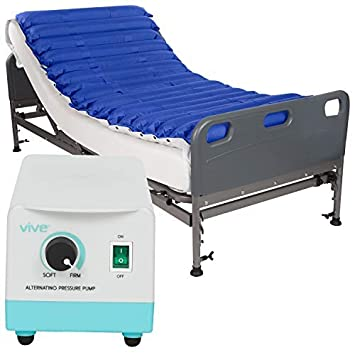 """Vive Alternating Pressure Mattress 5"""" - Air Topper Pad for Bed Sore, Ulcer Prevention"""