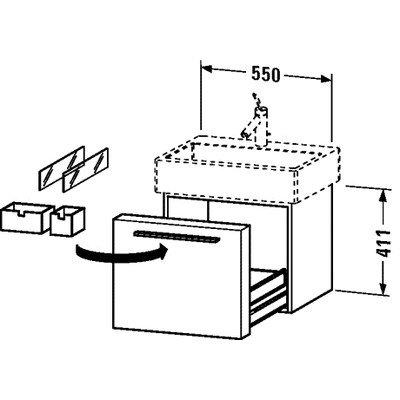Unit Duravit Vanity (Duravit FO955401313 Vanity Unit, American Walnut)