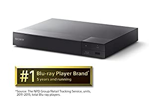 Sony BDP-S6700 4K Upscaling 3D Streaming Blu-ray Disc Player With Built In Wifi - 5 Pack Kit - Remote Control - 3 Pc Cleaning Kit - 10 FT High speed HDMI Cable - Xtreme Ear Buds (1 Year Warranty) by Sony