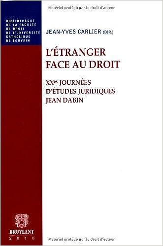 Lire en ligne L'étranger face au droit pdf, epub