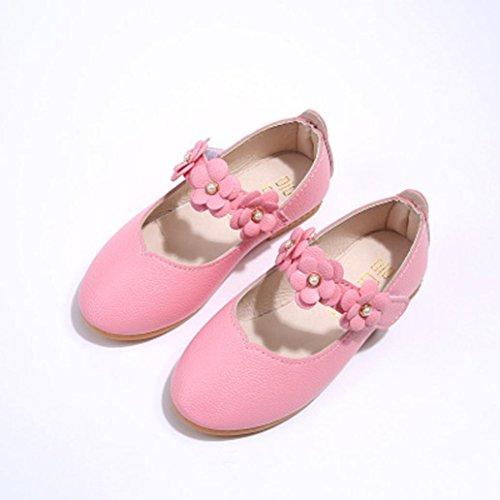 bescita Kinder Schuhe Mädchen Mode Blume Kind Schuhe Solide All Casual Schuhe Passen (22, Rosa)