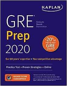 GRE Prep 2020: Practice Tests + Proven Strategies + Online ...