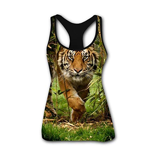 Forest Bengal Tiger Animal King 3D Print Casual Custom Sleeveless Tanks Vest Top Women Girl XL by TuNan (Image #4)