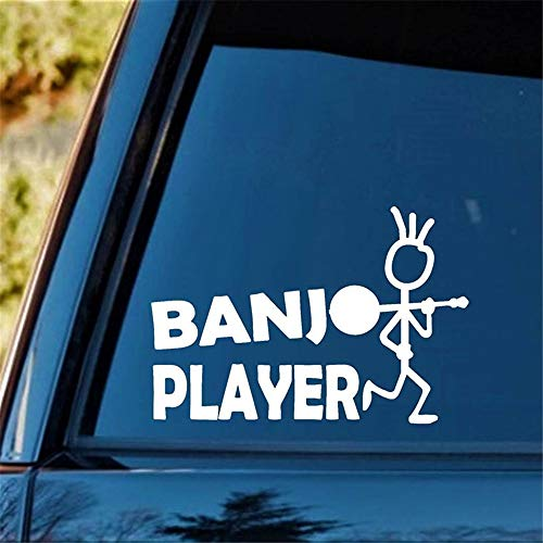Vinly Art Decal Words Quotes for Banjo Player Bluegrass Decal Sticker Guitar Bass Mandolin Funny Personality Stickers