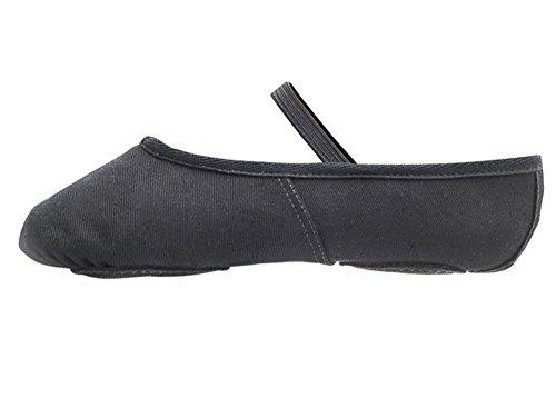 Dancewear By Split Adults Sole Childs Shoes Black All amp; Canvas Katz Ballet Sizes vq5xw5nC7A