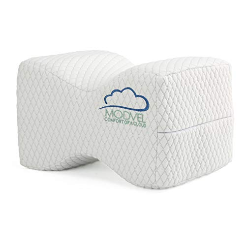Modvel Orthopedic Pillow-Memory Foam Knee, Hip, Sciatica & Lower Back Pain Relief Cushion, Provides Support & Comfort, Breathable, Between-The-Legs Pregnancy Sleep Contour Wedge (MV-104) ()