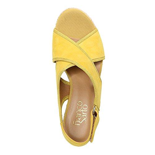 Franco Sarto Kvinna Taylor Peep Toe Speciella Tillfälle Plattform Sandaler Saffran Mocka