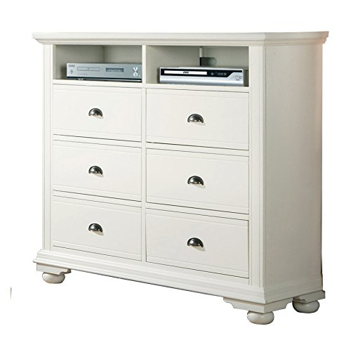 Chest White Tv (Abbey Avenue B-LEA-TVW B Leah TV Stand, White)