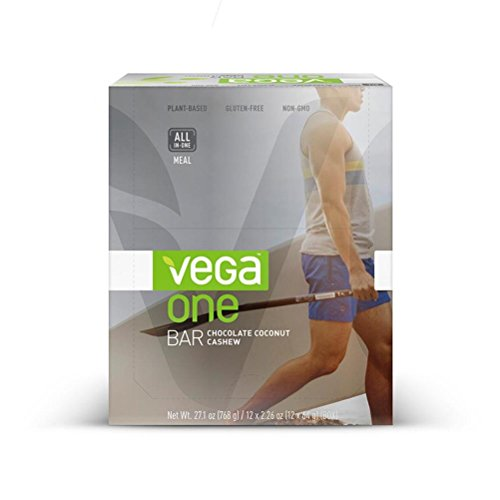 Vega One All-in-One Meal Bar, Chocolate Coconut Cashew, 12 Count (Vega Protein Bar compare prices)