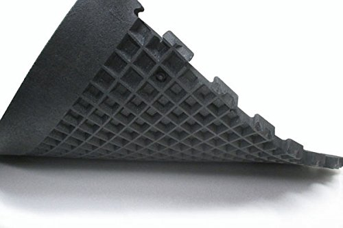 Humane SHOK-LOK 4′ x 8′ x 3/4″ Anti-Shock Rubber Deadlift Mat (Solid Black) – Cardio Equipment Mat – Noise and Vibration Reducing