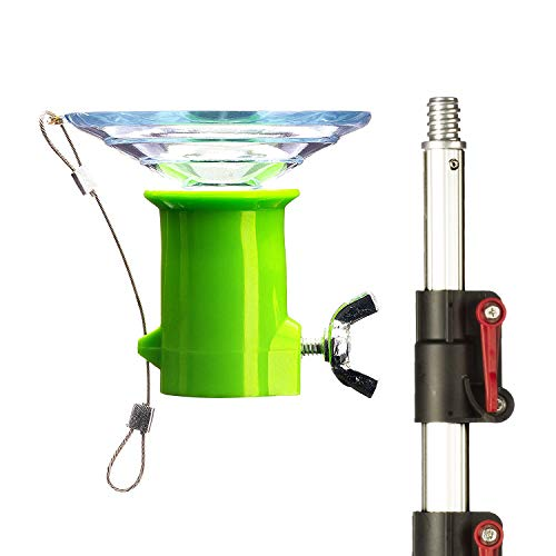 """STAUBER Best Bulb Changer with Pole - Includes The STAUBER""""Quick-Lock"""" Light Bulb Changer Extension Pole - Extends from 5 to 12 Feet - (Large Suction, 12 Feet)"""