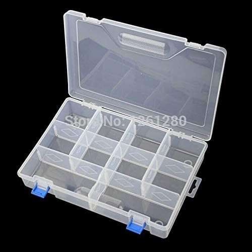 Tough Material and wear-Resistant Thickened Storage Box Category Box Sealed Bin Home Case Office DIY Chip Box Part Removable Jewelry Tool Part Box Non-Toxic and Tasteless