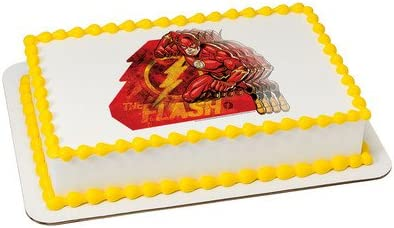 Sensational Amazon Com The Flash Licensed Edible Cake Topper 7438 Kitchen Funny Birthday Cards Online Sheoxdamsfinfo