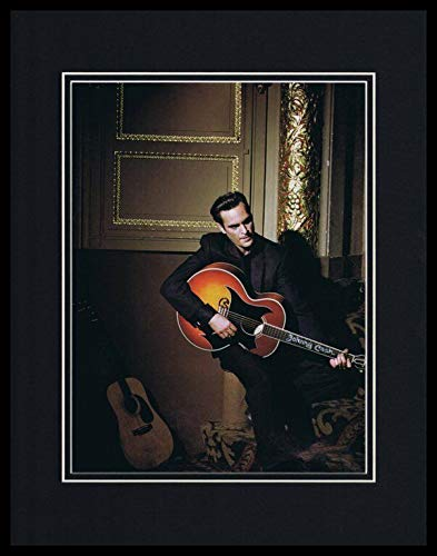 (Joaquin Phoenix 2005 Walk the Line as Johnny Cash Framed 11x14 Photo Display)