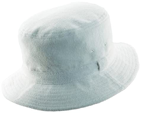 Dorfman Pacific Terry Cloth Bucket Hat-Large 22 3/4 - 23 1/8, color_name: White - Boonie Hat Terry Hat