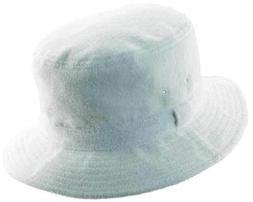 Dorfman Pacific Terry Cloth Bucket Hat -Med (22 - 22 3/8), color_name: White