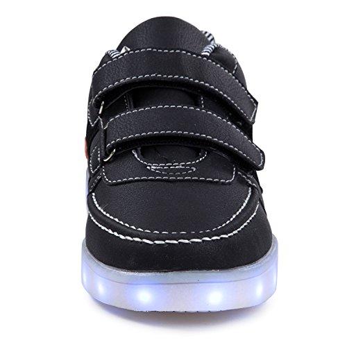 5e1e82ce502ec3 ... SAGUARO® Mädchen Jungen Leuchtschuhe 7 Farben Kinderschuhe USB Aufladen  LED Schuhe Leuchtende Blinkschuhe Licht Turnschuhe ...