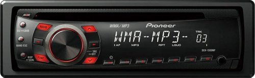 Pioneer DEH-1300MP CD Receiver with MP3 WMA Playback and Remote Control