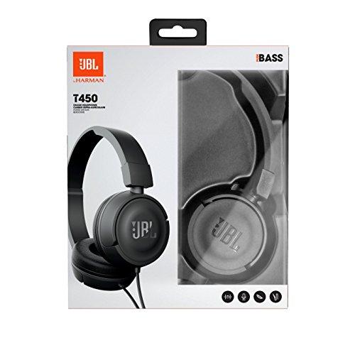 6a51eb41d13 Amazon.com: JBL Harman T450 On-Ear Lightweight Foldable Headphones with Mic  - Black: Electronics