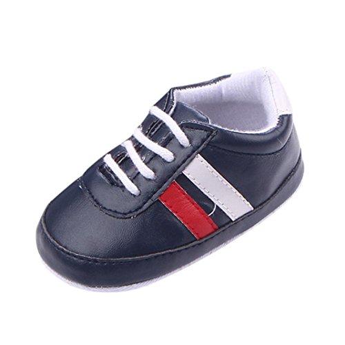 Showking Baby Casual Shoes, Newborn Baby Girls Boys Crib Patchwork Soft Sole Prewalker Shoes (Age:3Months, Black) ()