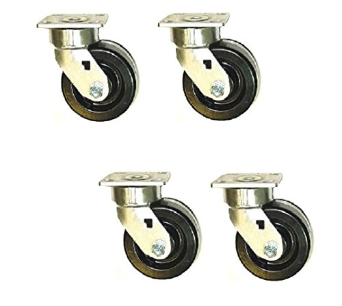 Set of 4 Swivel Tool Box Casters with 6