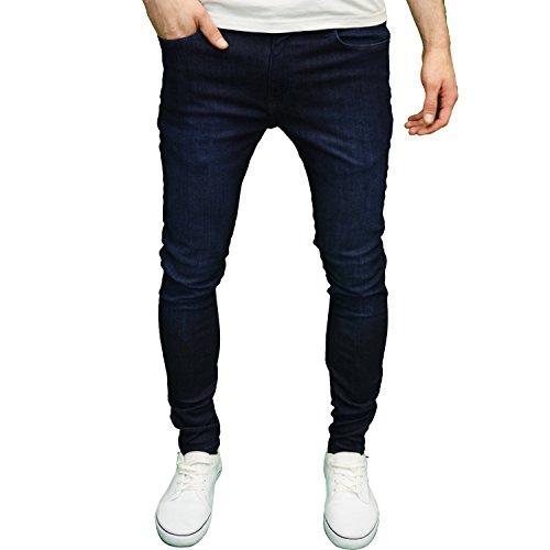 Branded Denim (526Jeanswear Mens Designer Branded Stretch Super Skinny Fit Jeans (38W x 34L, Dark Stonewash))