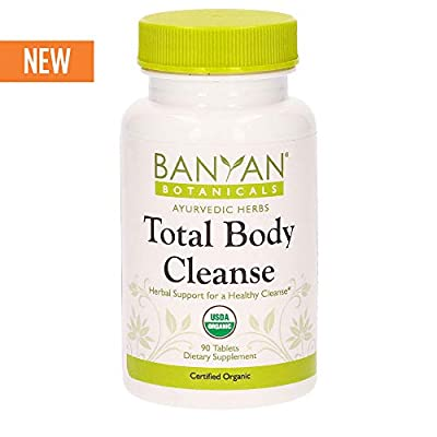 Banyan Botanicals Total Body Cleanse Tablets - USDA Organic - Full Body Herbal Detox Support for Ayurvedic Detoxification & Natural Cleansing - 90 ct - Non-GMO No Additives Vegan*