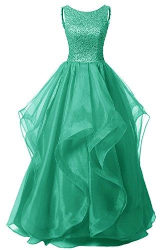 Gown Asymmetric DRESSTELLS Dress Green Dress Beaded Long Bridesmaid Prom Organza AqZw8Uq