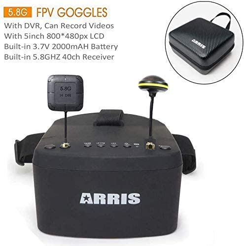 ARRIS EV800 5 Inches 800x480 FPV Goggles Video Glasses 5.8G 40CH Raceband Auto-Searching Build in Battery