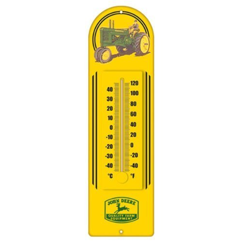 John Deere Metal Wall Thermometer - KE99160 - Metal Wall Thermometer