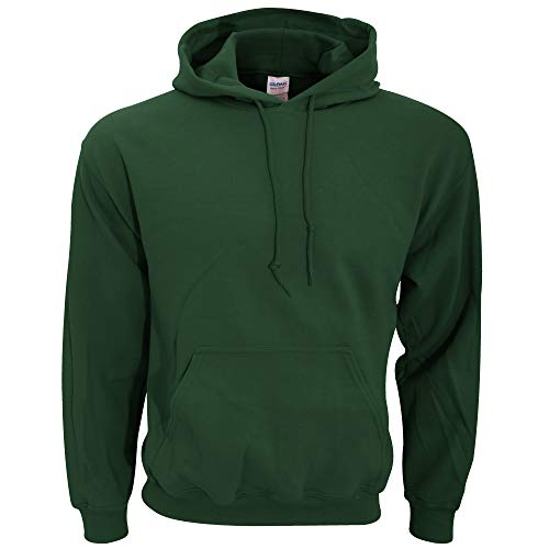 (Hooded Pullover Sweat Shirt Heavy Blend 50/50 - Forest Green 18500)