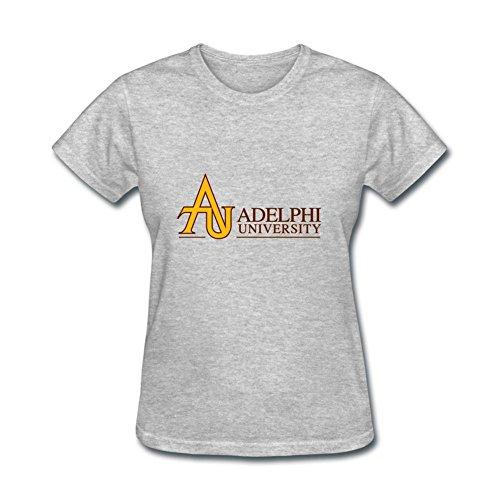 Reder Women's Adelphi University Garden City T-Shirt M Grey