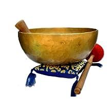 """11"""" D-chakra Master healing singing bowl,Meditation bowl,Tibetan Bowls, free singing bowl cushion,striker and drum stick."""