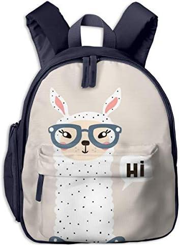 アルパカの眼鏡をかけている 迷子防止リュック バックパック 子供用 子ども用バッグ ランドセル 高品質 レッスンバッグ 旅行 おでかけ 学用品 子供の贈り物