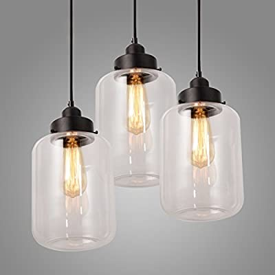 Electro_BP;Modern Glass Bottle Pendant Lights Max 180W With 3 Lights Painted ...
