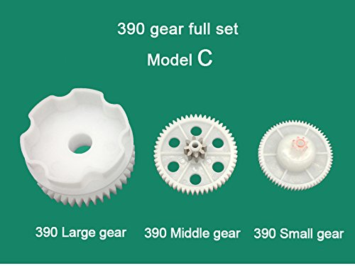 390 Full Set of Motor Gear Box Large Gear Middle Gear Small Gear for Kids Power Wheels Car,390 Gearbox Accessory Children Electric Ride on Toys Replacement - Gears Electric Accessories