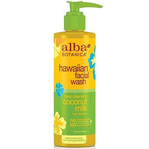 - Alba Botanica Hawaiian Nourishing Face Wash, Coconut Milk, 8 Fl Oz