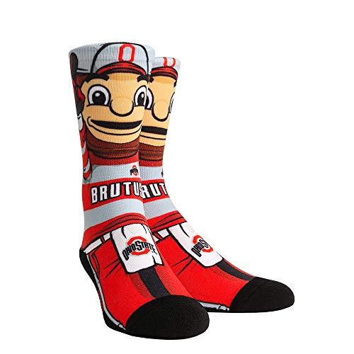 NCAA Super Premium College Fan Socks (L/XL, Ohio State Buckeyes - Mascot Brutus) from Rock Em Socks