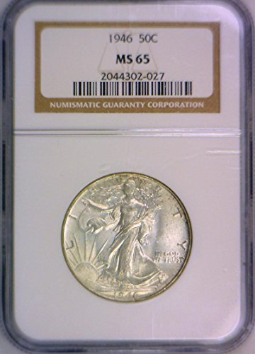 1946 P Walking Liberty Half Dollar MS-65 NGC