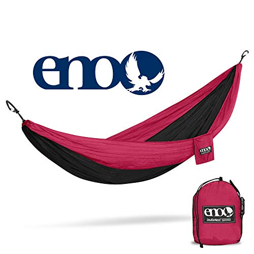ENO - Eagles Nest Outfitters DoubleNest Hammock, Portable Hammock for Two for Outdoor Camping, Limited Edition, Black/Maroon