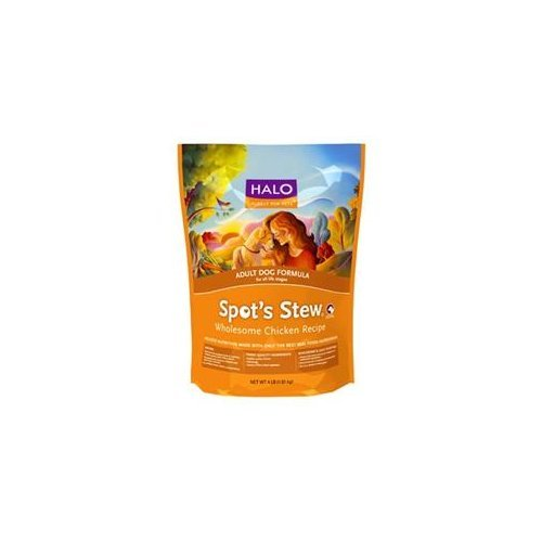 HALO, PURELY FOR PETS 455021 4-Pack Spot's Stew Wholesome Chicken for Adult Dog, 10-Pound